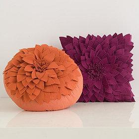Pillows - Allegra Flower Pillows - flower, pillows