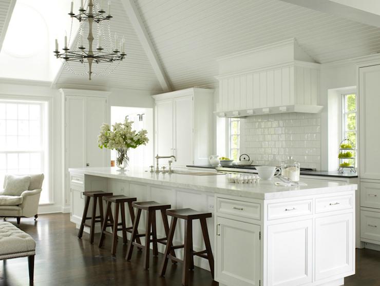 Long kitchen island transitional kitchen house beautiful - Kitchen designers long island ...