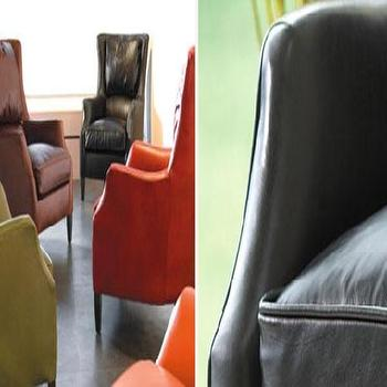 Seating - ALEX BLACK CHAIR - leather, wingbach, chair
