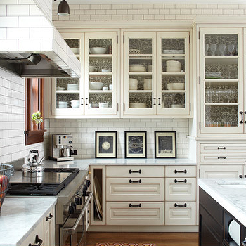 Subway Tile Range Hood, Transitional, kitchen, KItchen Lab