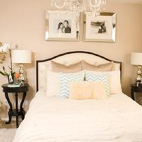 bedrooms - starburst mirror, pintuck bedding, twinkle living pillows, sheepskin pillow, sheepskin rug, Zgallerie bed,  http://bazaarofserendipity.blogspot.com/