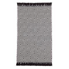 Pier 1 Imports, Black & White Diamond Chenille Rug