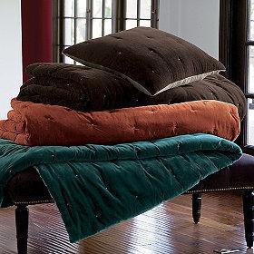 Bedding - Tudor Velvet Quilt - velvet, quilt