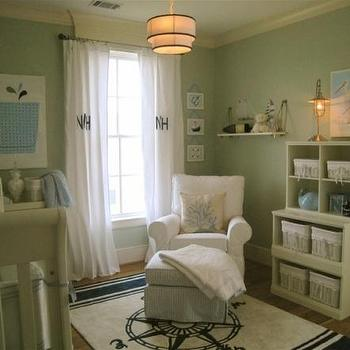 Compass Rug, Traditional, nursery, Benjamin Moore Bird's Egg, HGTV