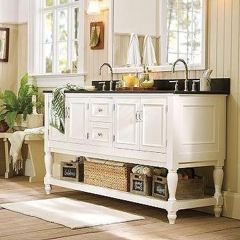 Bath - Newport Double Sink Console | Pottery Barn - granite, double sink, console