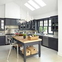 House & Garden - kitchens - kitchen, black,  kitchen