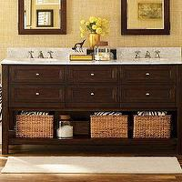 Bath - Classic Double Sink Console - Espresso finish | Pottery Barn - espresso, double sink, console