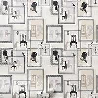 Wallpaper - Cameo Wallpaper?-?Anthropologie.com - wall paper, black and white
