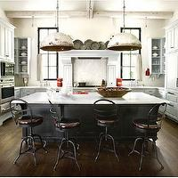 D. Stanley Dixon Architect - kitchens - white, kitchen, cabinets, black, kitchen, island,  Designer Betty Burgess created a winning design for