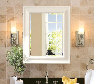 Wall Mounted Bathroom Cabinets on Bath   Sonoma Wall Mounted Medicine Cabinet   Pottery Barn   White