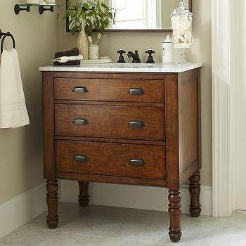 Bath - Harvest Single Sink Console | Pottery Barn - harvest, sink, console