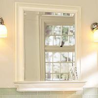 Bath - Metropolitan Mirror with Shelf | Pottery Barn - white, bathroom, mirror