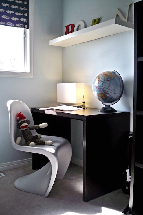 White Panton Chair Contemporary Boy S Room Behr