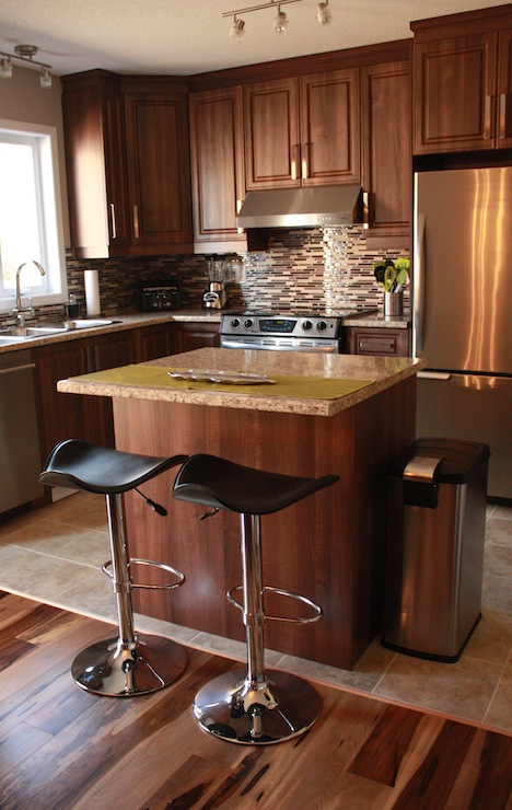 Walnut Kitchen Cabinets  Contemporary  kitchen