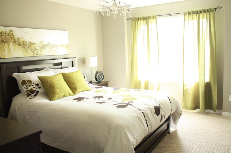 Sherwin williams grays contemporary bedroom sherwin for Green and white bedroom designs
