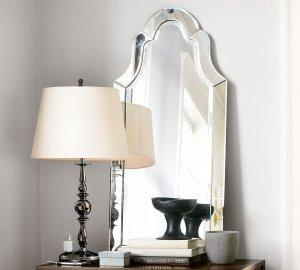 Mirrors - POTTERY BARN Elise WALL MIRROR Venitian Frameless - mirror