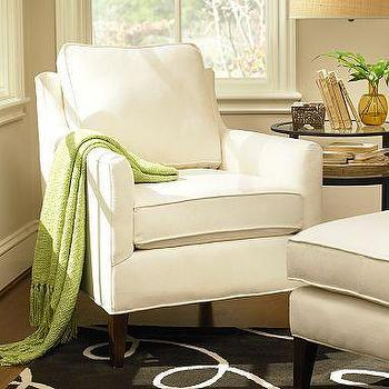Seating - Arlington Armchair | Pottery Barn - chair, white, cream, bedroom