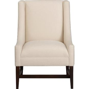 Seating - Chloe Chair | Crate and Barrel - chair, wingback, wing chair, white, cream, bedroom