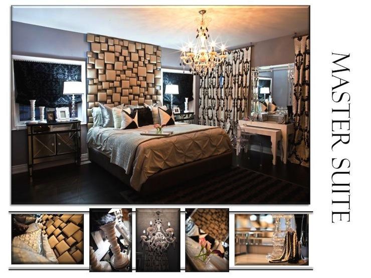 Ceiling Height Headboard Contemporary Bedroom