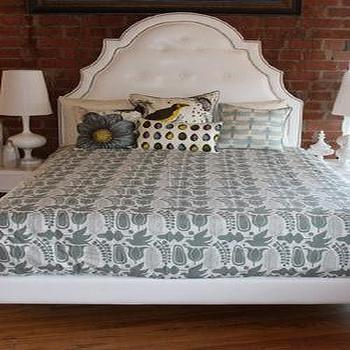 Beds/Headboards - Beds and Headboards - white, tufted, headboard