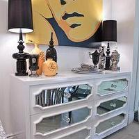 Storage Furniture - Credenzas and Dressers - white, hollywood regency, dresser