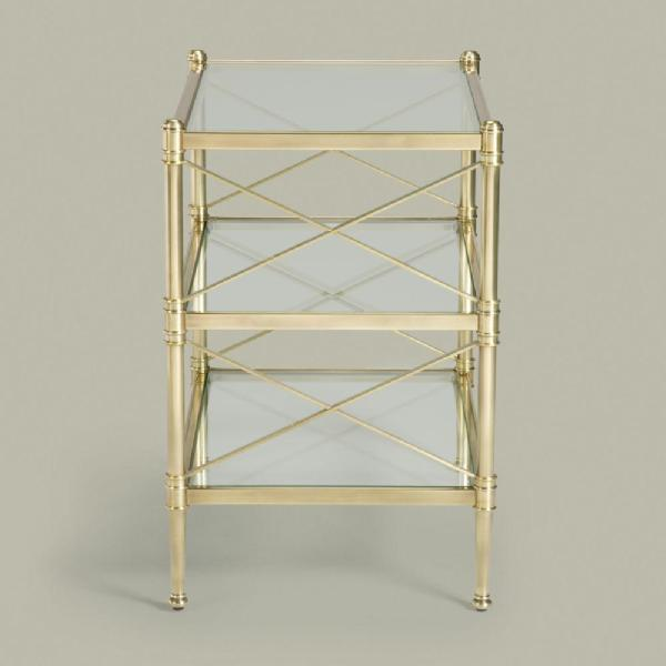 Tables - ethanallen.com - collector's classics end table | ethan allen | furniture | interior design - Nickel, Glass, End Table, Ethan Allen