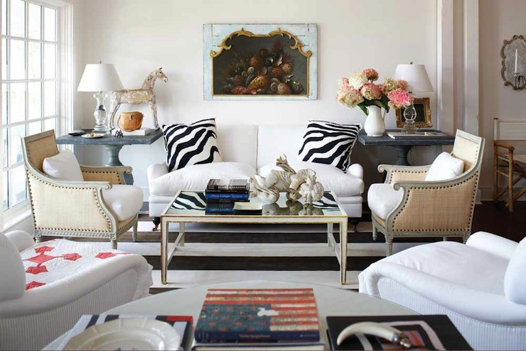 Zebra pillows transitional living room michael partenio for Living room ideas zebra