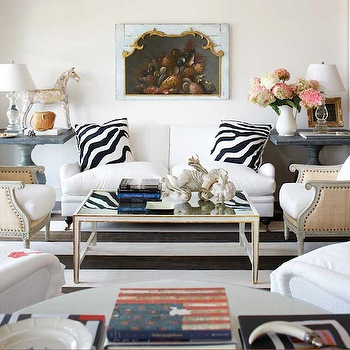 Zebra Pillows, Transitional, living room, Michael Partenio