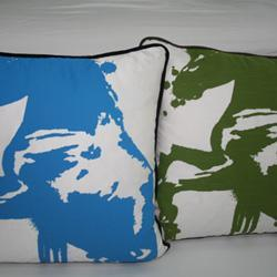 Pillows - Modern Throw Pillows - blue, green, stallion, pillows