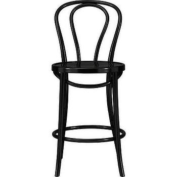Vienna Black Barstool, Crate&Barrel
