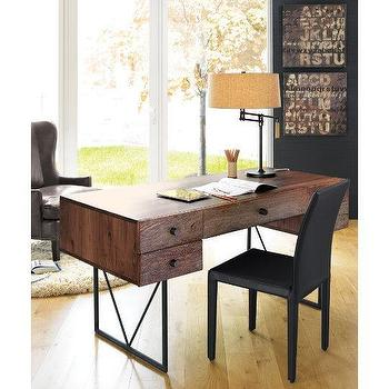 Storage Furniture - Hendrix Desk | Crate&Barrel - hendrix, desk