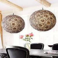 Lighting - The Horchow Collection - Lighting - Chandeliers - shell, pendants