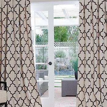 Window Treatments - Contemporary Geometric Custom Drapes | DrapeStyle | 877-814-6760 - iron gate, geometric, drapes