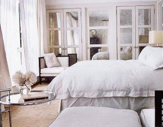 Antique Mirrored Doors - Transitional - bedroom