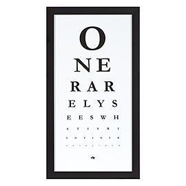 Eye Chart is Modern Art with a Hidden Message, Z Gallerie