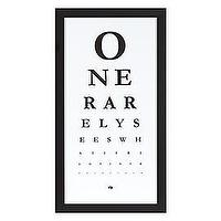 Art/Wall Decor - Eye Chart is Modern Art with a Hidden Message | Z Gallerie - eye, chart