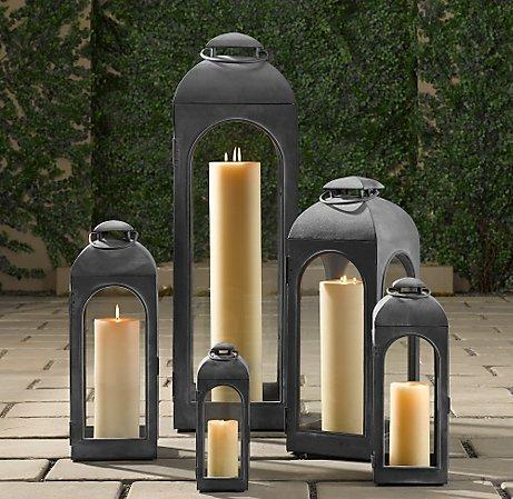 Decor/Accessories - Duomo Lanterns Weathered Zinc | Weathered Zinc | Restoration Hardware - garden, lantern, candle