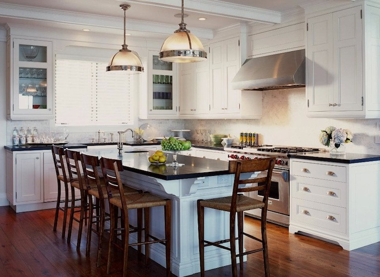 Clemson Pendants Transitional Kitchen Jennifer Worts