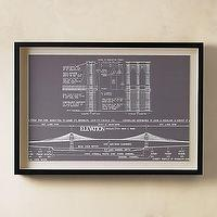 Art/Wall Decor - Brooklyn Bridge Art | Art | Restoration Hardware - industrial, architecture, art, blue print, brooklyn bridge