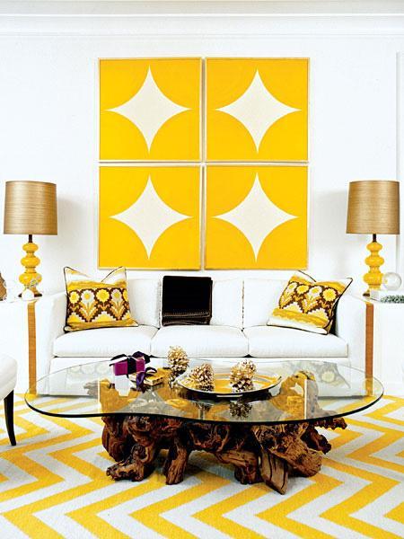 Yellow Chevron Rug Contemporary Living Room Pieces Inc