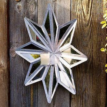 Decor/Accessories - Star Wall-Mount Candleholder | Pottery Barn - star, candleholder