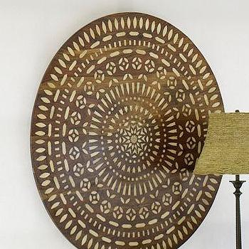 Art/Wall Decor - Bone Inlay Medallion | Pottery Barn - bone, inlay, medallion