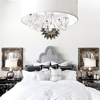 Mirrored Bedside Table, Eclectic, bedroom, Manny Rodriguez Photography