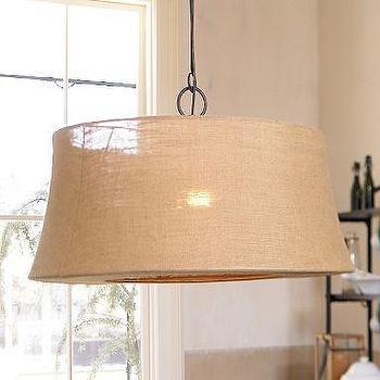 Lighting - Salem Chandelier | Pottery Barn - salem, linen, pendant, chandelier