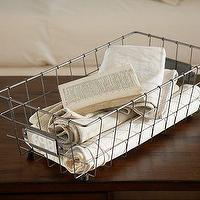 Decor/Accessories - Toscana Wire Basket | Pottery Barn - wire, storage, basket