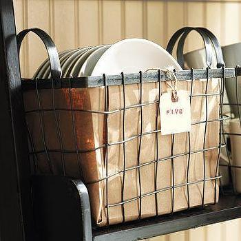 Wire Basket with Handles, Pottery Barn