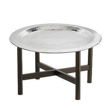 Tables - Hammered Tray + Stand | west elm - hammered, tray, table