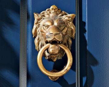 Williams sonoma home lion door knocker - Lion face door knocker ...