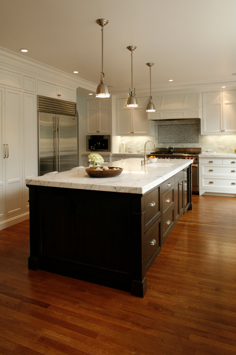 espresso kitchen island transitional kitchen