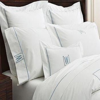 Bedding - Williams-Sonoma Home | Everyday Luxury B&B Embroidered Bedding - monogrammed, bedding